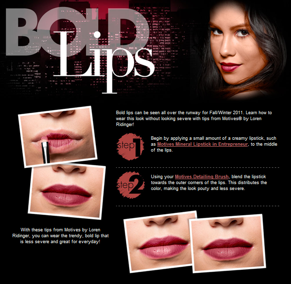Bold Lip Tips - Mikel Cain