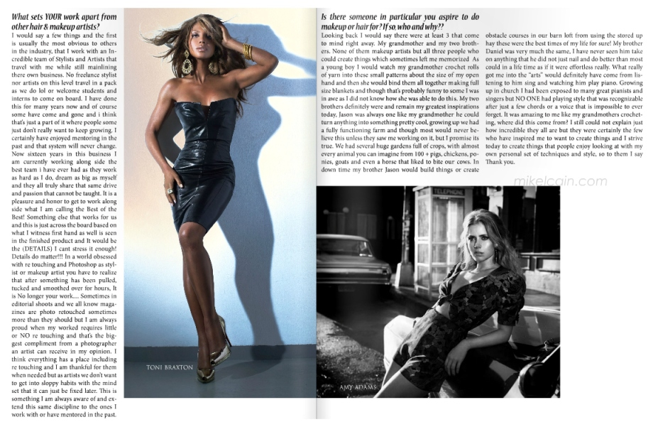 FASHION AFFAIR MAGAZINE INTERVIEWS CELEBRITY HAIR & MAKEUP ARTIST MIKEL CAIN